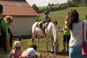 Pohledem na svět z koňského hřbetu se kochali návštěvníci Farmy Galloway